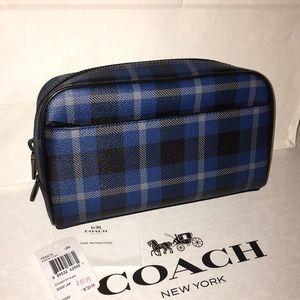 Coach Other - Nwt 100% Authentic Mens Coach Denim Plaid Pouch