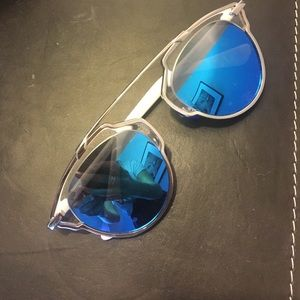 Christian Dior Accessories - Dior SoReal sunglasses blue mirrored