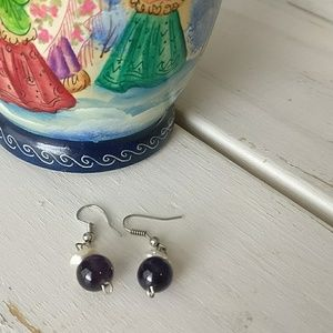 Jewelry - 💐Amethyst and Pearl Earrings💐