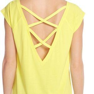 yellow zella pirouette shirt size L