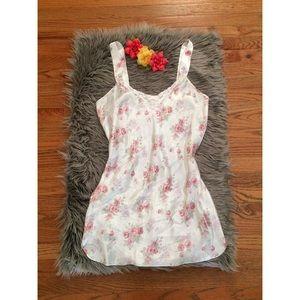 Vintage Other - Vintage 80's Rose Floral Satin Slip Dress 💐