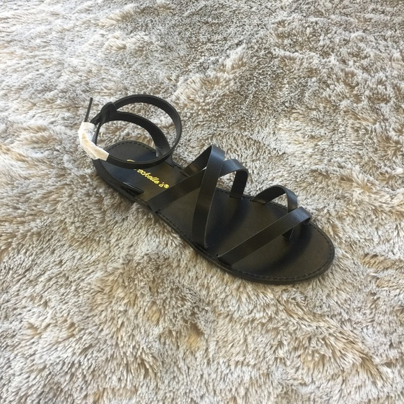Shoes - Under Wraps Sandal - Black