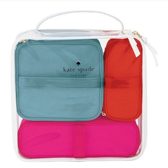 945e49124c Kate Spade Travel Cosmetic Makeup Bag Set