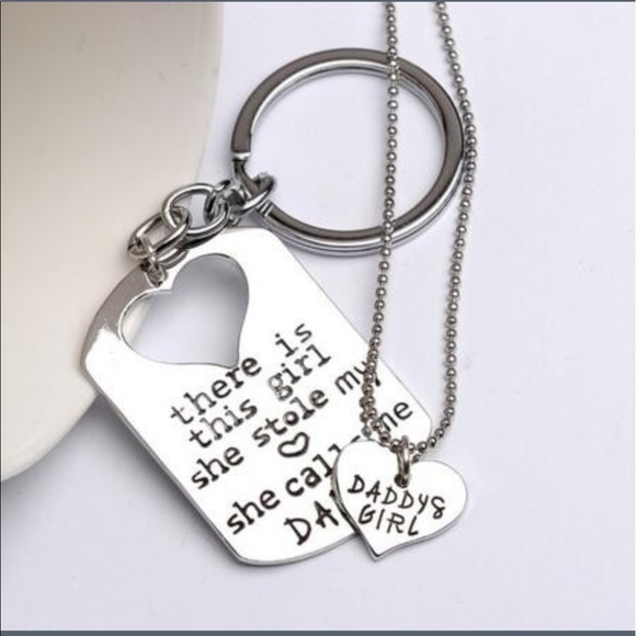 fathers day keychain necklace quot there is this quot from