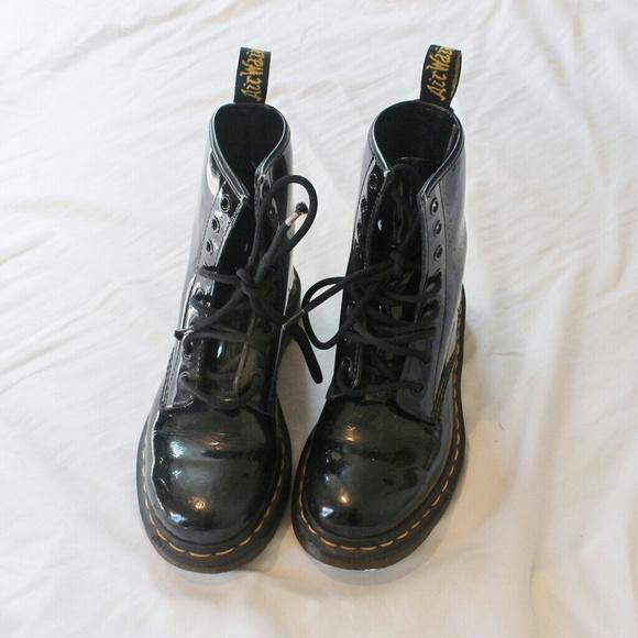 doc martens black shiny www imgkid the image kid