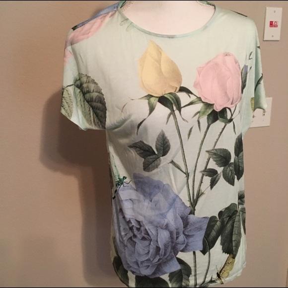 2cec04cfc1e09 Ted Baker porcelain rose jersey t-shirt size 4. M 591cdbd03c6f9f3cfd0067c0