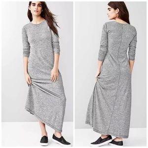 Gap long sleeve gray Maxi dress xs