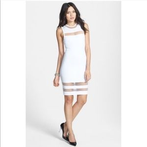 Leith Dresses & Skirts - White Bodycon Dress with Mesh