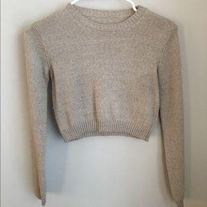 Vintage beige crop sweater