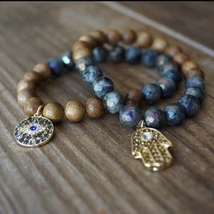 Function & Fringe Jewelry - 🌺 Hamsa & Evil Eye bracelets