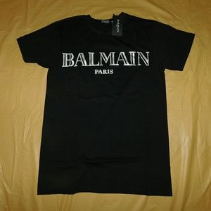 Balmain Other - Balmain Black & Silver Signature Logo T-Shirt