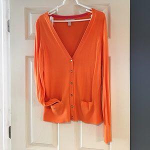 Banana Republic Size M Orange Button Down Sweater