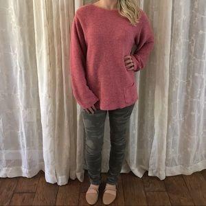Pink PA Company Boston Thick Knit Sweater