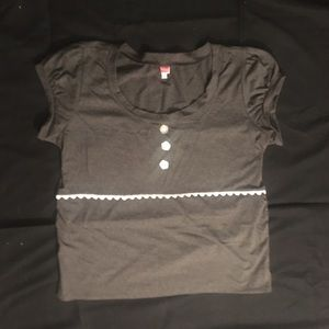 ModCloth Tops - ModCloth NWOT Grey Embellished Top
