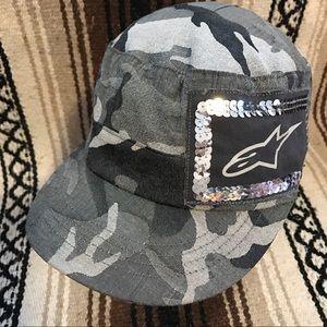 Alpinestars Accessories - Women's Glitter AlpineStars Camo Army Cadet Hat