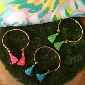 LILLY PULITZER Set of 3 Tassel Bracelets (NWOT)