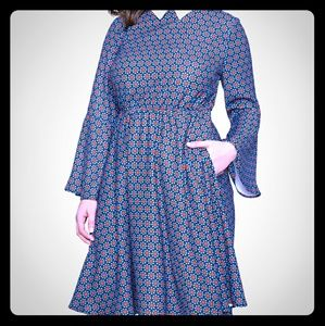 Eloquii Dresses & Skirts - Trumpet Sleeve Fit and Flare Dress
