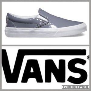 Vans Classic Slip On Sneaker {Grey Patent} 7.5