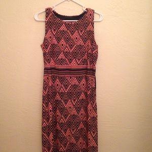 Just Taylor Dresses & Skirts - Just Taylor Orange and Black Maxi Dress NWOT
