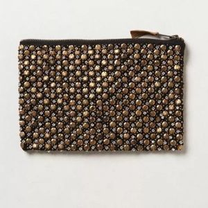 Anthropologie beaded matinee clutch / pouch nwt
