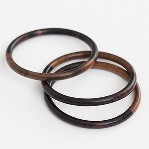 Jewelry - Bohemian wood bangles (set of 3)