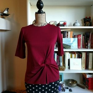 Topshop Ruby Red Top