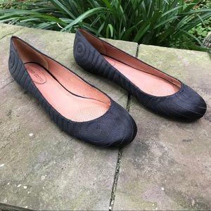 """Corso Como Shoes - Black Satin """"Dusty"""" flat by Corso Como"""