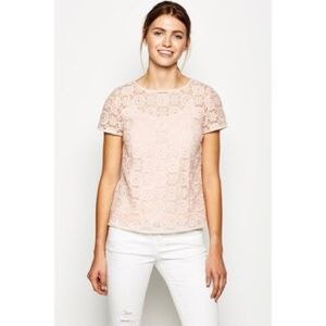 Jack Wills Tops - Black Flower Lace Blouse