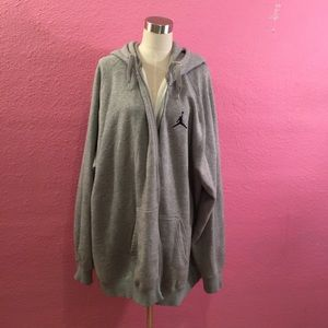 Gray zipper hoodie   Big & Tall Air Jordan