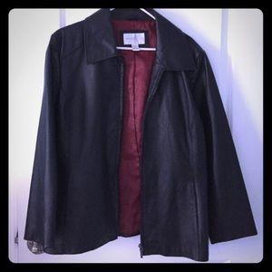 Worthington Black Leather Jacket XL