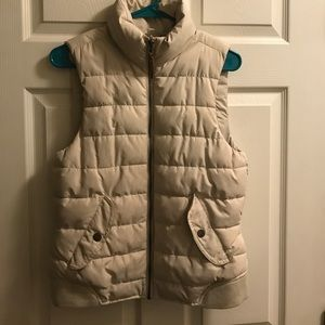 H&M Off White Puffer Vest- Size 8