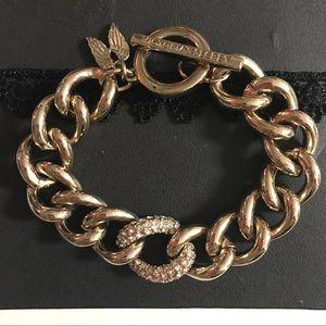 Victoria's Secret Chain Bracelet Gold Plate Angel
