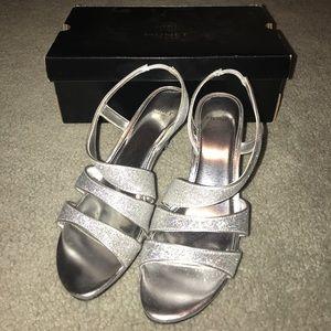 Monet Shoes - Silver Glitter Heels