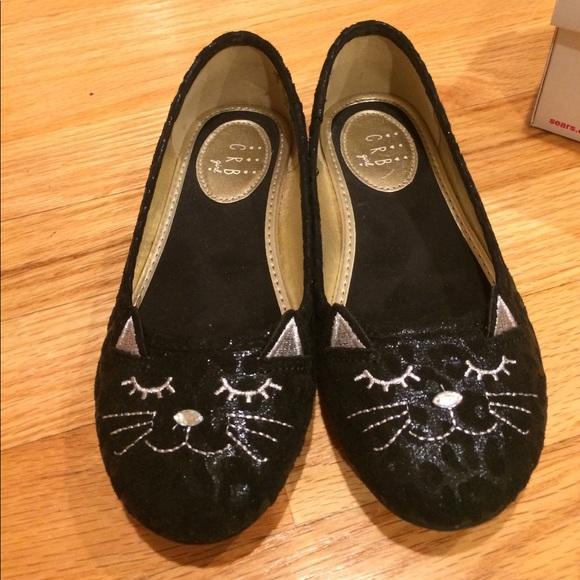 C R B Girl Shoes | Girls Kitty Cat