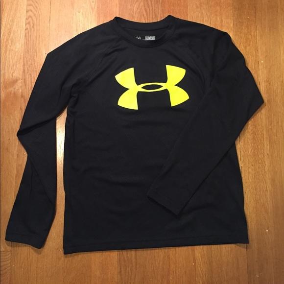Under Armour Under Armour Black Yellow Long Sleeve Shirt
