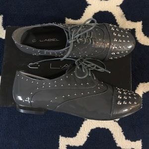 C. Label Shoes - 👓Gray Rae Studded Oxford Shoes (8) 🕶