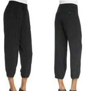 Eileen Fisher 100% silk drawstring ankle pants S