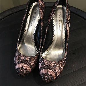 Lulu Townsend Shoes - Lace heels