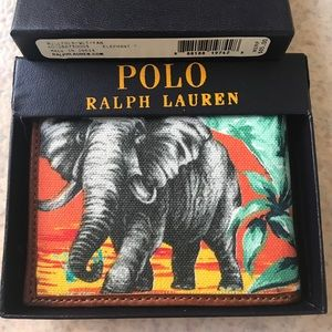 Ralph Lauren Other - POLO RALPH LAUREN MEN ELEPHANT LEATHER WALLET BOX+