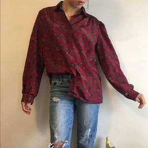 Urban Outfitters Tops - Vintage Paisley Print Blouse