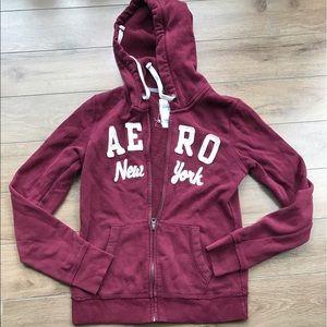 Aeropostale AERO New York logo hoodie jacket zip