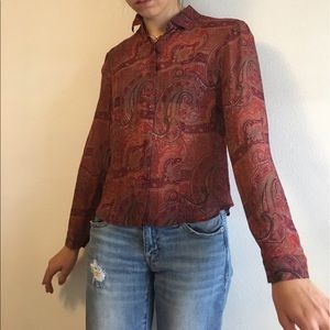 Urban Outfitters Tops - Vintage Silk Paisley Print Blouse