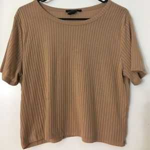 F21 Taupe Blouse