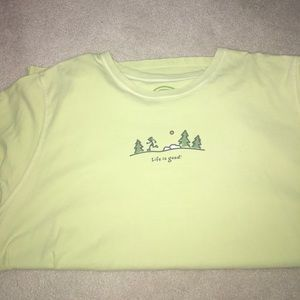 Life is Good Tops - Life is Good Lime Green Running Shirt