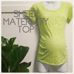 Motherhood Maternity Tops - Sheer neon top size medium by motherhood maternity