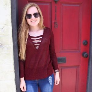 Fashion Nova Sweaters - Fashion nova criss cross detail sweater