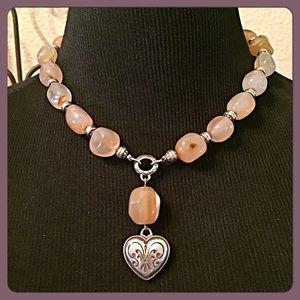 Brighton Jewelry - 30% OFF BUNDLES💗Brighton Agate Heart Necklace💗