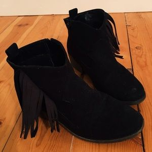 Justice Shoes - Fringe heeled booties