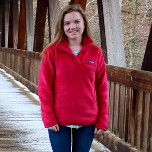 Patagonia Jackets & Blazers - Patagonia red fleece pullover