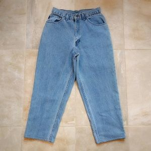 VTG 90s Chic Cropped High Waist Mom Jeans 8 W28.5